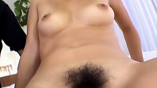 Saki Ogasawara Gets Finger In Asshole And Palm In Shaved Slit