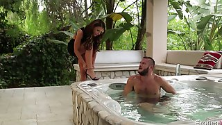 Enchanting Cowgirl Joins Her Hubby In The Bath Tub And Gets Nailed Hardcore