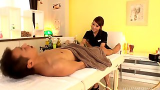 Beautiful Asian Masseuse Takes A Load Of Semen In Her Mouth