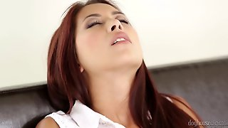 Adorable Redhead Has Her Shaved Pussy Creampied In A Juicy Close Up Shoot