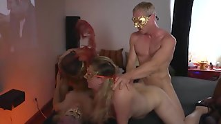 Masked Orgy With Curvy Girls And Fit Guys