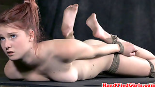 Hogtied And Hair Bounded Sub Anal Play