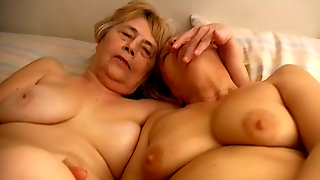 Two Old Grannies Masturbate Together