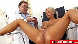 Beautiful Czech Blonde Nathaly Heaven Vagina Exam