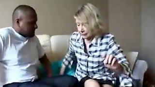 Grandma Gets Ghetto Black Cock