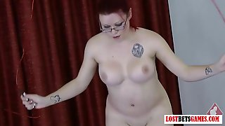 Busty Redhead And Her Friend Have A Jump Rump Contest