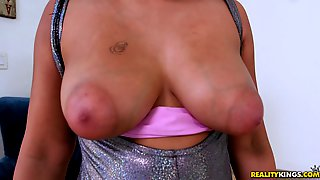 Black girl with big tits and puffy nipples fucked hardcore ...