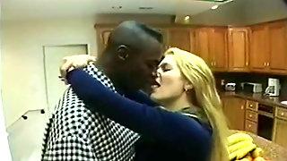 Interracial Romantic Kiss