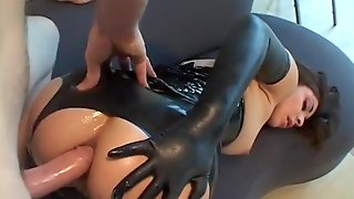 Kinky Leather And Latex Slut Fucked In The Ass