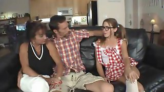 Mature Helps Young Couple