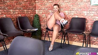 Flirty Upskirt Girl With A Sexy British Accent