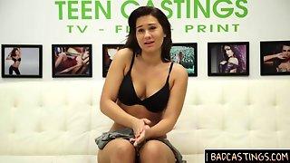 Extra Shy Teen Hard Casting