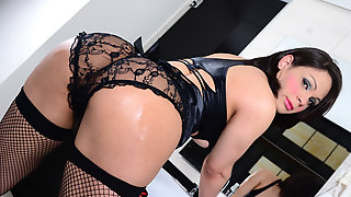 Sexy Ladyboy Gabriella Makes Out With A Guy And Gets Ass Laid