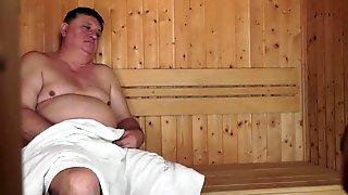 Cute Chick Sucks Fucks Ugly Dude In A Sauna