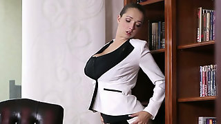 Fuck Hungry Delicious Secretary Took Her Clothes Off To Masturbate In The Office