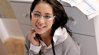 Flirty Schoolgirl Paula Gets Fucked And Receives A Messy Facial