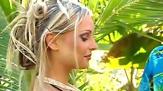 Blond Twinsin A Tropical Scene