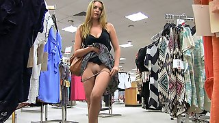 Very Bad Girl Fingers Herself In A Clothing Store Dressing Room