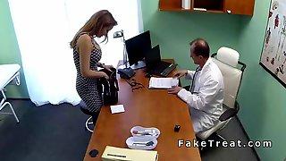 Patient With Huge Boobs Bangs Doctor