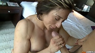 Most Desirable Muscular Babe Rides The Dick Like No One Else Can