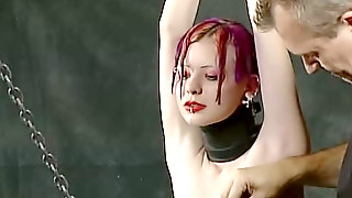 Hardcore Punishment For Tied Up And Suspended Emo Chick