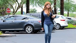 Phoebe Is Drop Dead Gorgeous! This Redhead Likes Showing Off Her Body In Public!