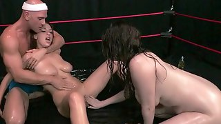 Sweaty Wrestling Turns Into A Wicked Bang Fest