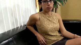 Beautiful Cougar With Sexy Glasses Sucking Her Boy-toy