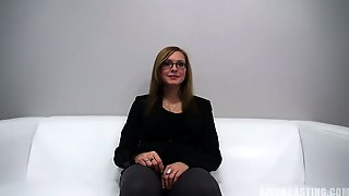 Sweet Amateur With Glasses At The Sex Casting