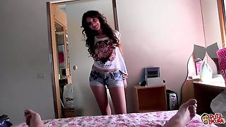 Amateur Cuties Blow A Fat Guy Together And Get Pounded