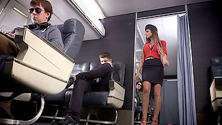 Leggy August Ames Plays A Naughty Stewardess That Loves Dick