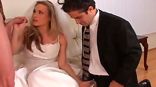 Cuckold Is Watching His Fiance Sucking Dick Of Another Man On The Wedding