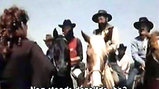Neat Lady In White Lingerie Gets Doggyfucked In The Desert By Cowboy