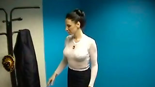 Disgusting But Busty Brunette Strips On Cam To Boast Of Her Droopy Boobs