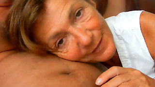 This Filthy Granny Loves The Feeling Of My Prick At The Back Of My Throat