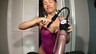 Femdom Cock Control: Penis Pump Tease