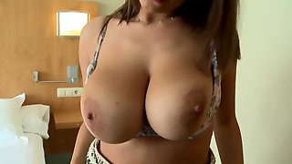 Big-titted Lovely Babe Sucking, Titty Fucking & Riding