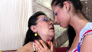 Seductive Shoot Of Matured Granny Lesbian Having Her Pussy Licked