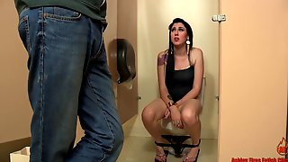 Hard Bathroom Banging After Pee