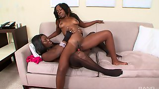 Pair Of Ebony Babes Coco And Xena Are Having A Great Time With A Toy