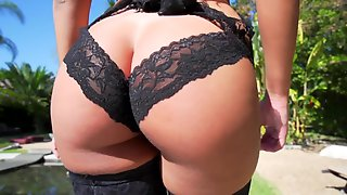 Young Stunning Beauty Ass Fucked Outdoors By The Pool