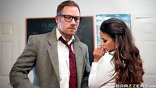 Crazy Student With Pierced Clit Roxxy Lea Riding Teacher