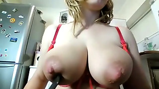 This Fat Ass MILF With Big Lactating Tits Is Fingering Her Asshole On Cam