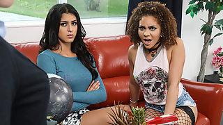 Peyton Banks & Sophia Leone In Girl Fight - Brazzers