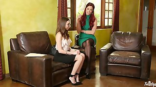 Riley Reid Seduces A Shy Babe For A Formidable Lesbian Shag