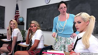 Naughty College Chick Elsa Jean Was Caught By Nerdy Teacher
