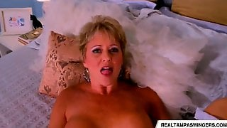 Swinger wife tracy gets a mouth full of cum the adult news