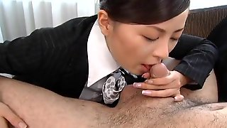 Asian Stewardess Is A Hot Cocksucker