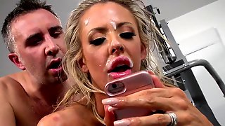 Amazing Courtney Taylor Fucked At The Gym By The Horny Trainer
