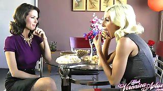 Puma Swede And Veronica Avluv Have Fun With Their Favorite Food